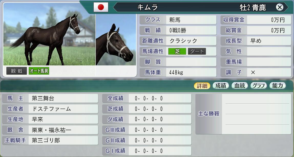 2030キムラ主戦と厩舎