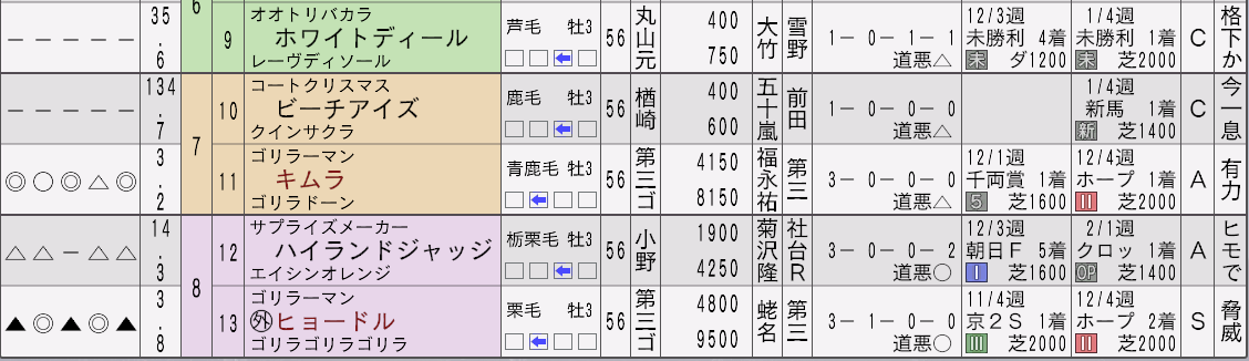 2032年弥生賞新聞2
