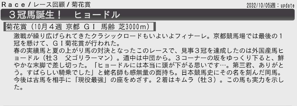 2032菊花賞回顧