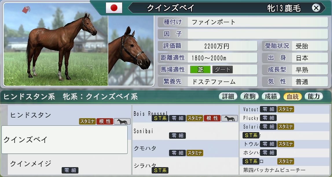 6周目初期贈与繁殖牝馬