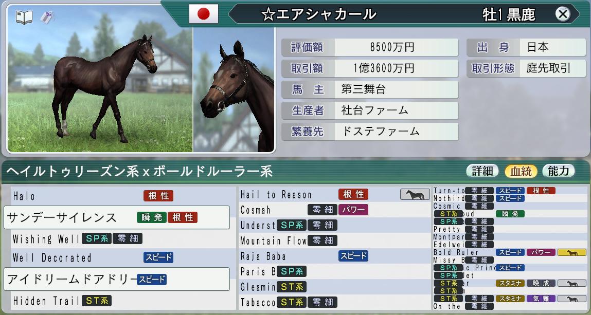 6周目1998購入1歳馬
