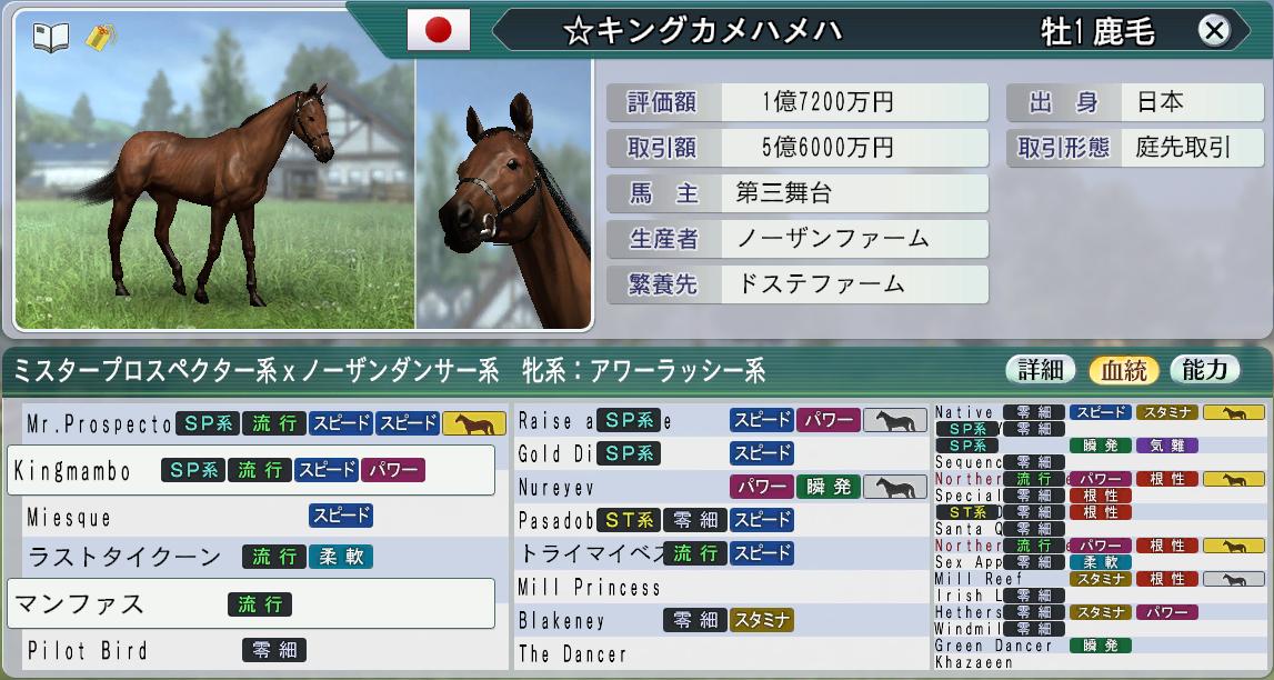 6周目2002購入1歳馬