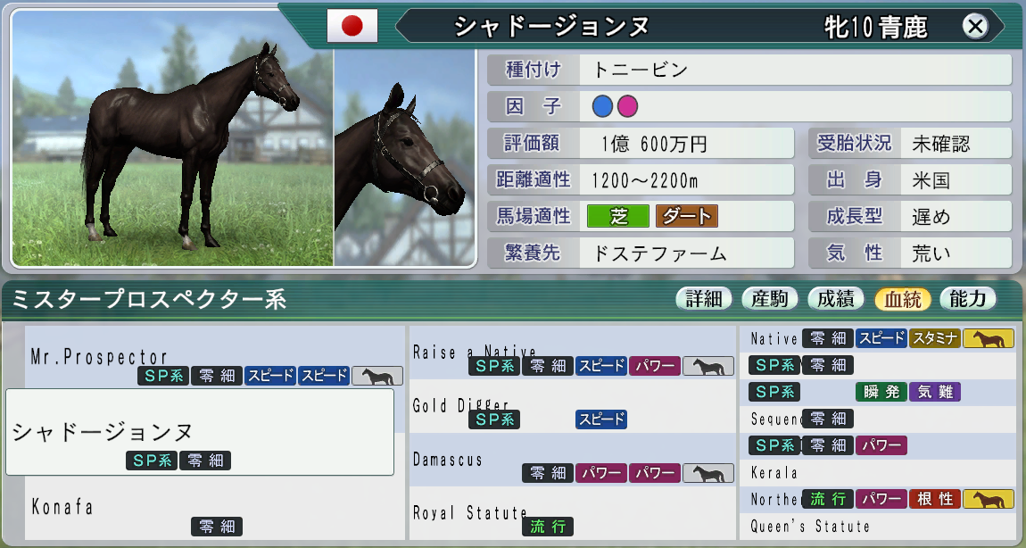 20151周目1990お勧め繁殖牝馬1