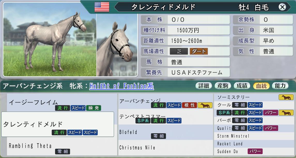 2015 1周目 2041アーバンチェンジ系種牡馬候補その2